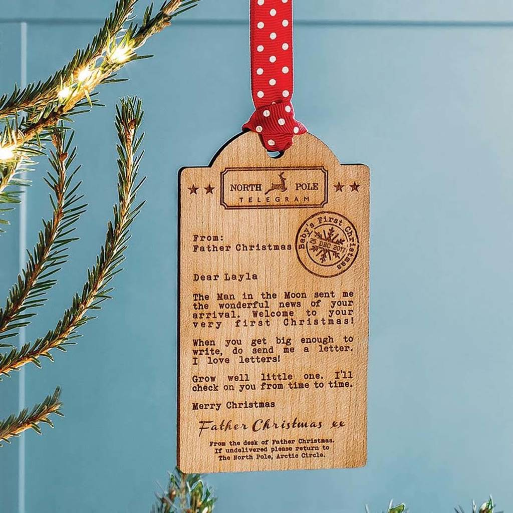 bespoke baby s first christmas wooden tag decoration by betsy benn ... ed4a95423d