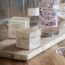 Personalised Wooden Gin Recipe Dice