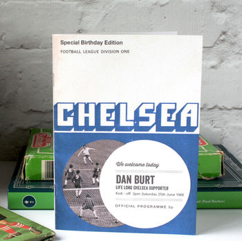 Personalised Chelsea Football Programme