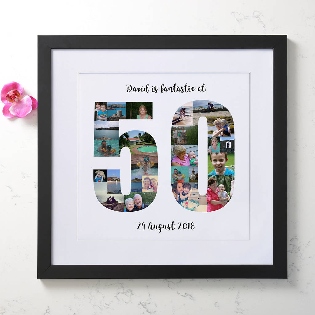 Personalised 50th Birthday Photo Collage