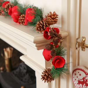 Rose Red Traditional Christmas Garland - garlands & bunting