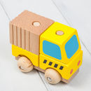 Wooden Stacking Blocks Mini Dump Truck Toy