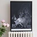 Europe Roads And Paths Contemporary Map Print