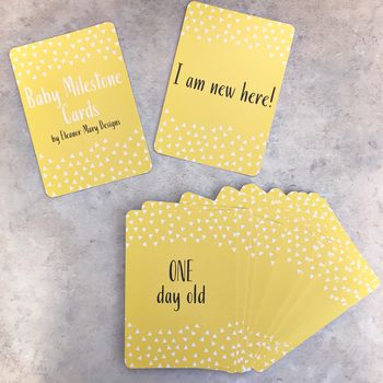 Mustard Yellow Baby Milestone Cards