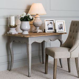 Woodcroft Colonial Grey Pine Table - side tables