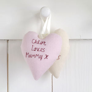Personalised Hanging Heart Keepsake Gift