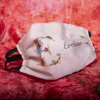 Personalised Name Initial Reusable Face Mask Covering