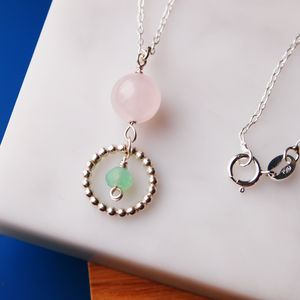 Rose Quartz And Ring Necklace