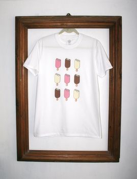 Magnum Hand Drawn Ice Lollies T Shirt