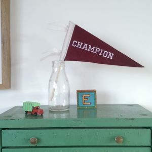 'Champion' Mini Pennant Flag