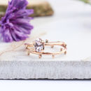 Achillies And Dahlia 9ct Rose Gold Boho Stack Rings