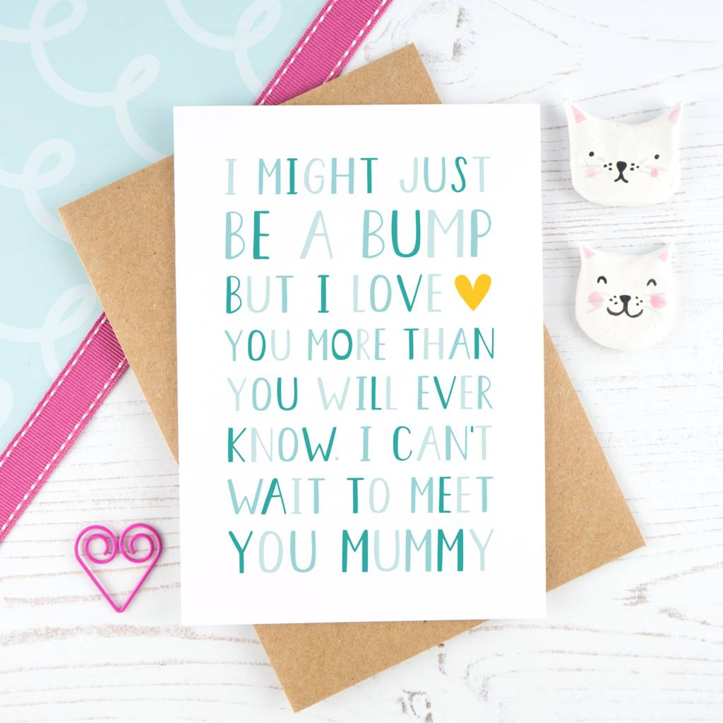 From The Bump Mummy Birthday Card By Joanne Hawker
