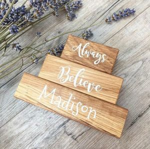 'Always Believe' Oak Building Blocks - traditional toys & games