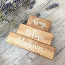 'Always Believe' Oak Building Blocks