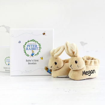 Personalised Peter Rabbit Booties