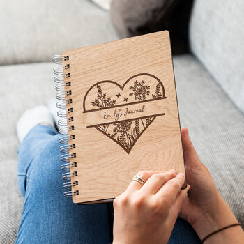 Personalised Wooden Journal Notebook