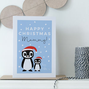 Personalised Mummy Christmas Card - cards