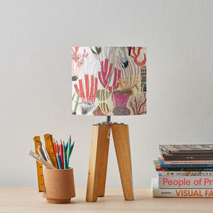 Coral Lampshade - bedroom