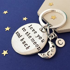 Moon And Back Keyring - womens