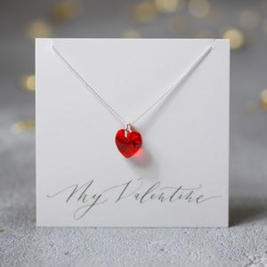Swarovski Crystal Valentines Heart Necklace - jewellery sale