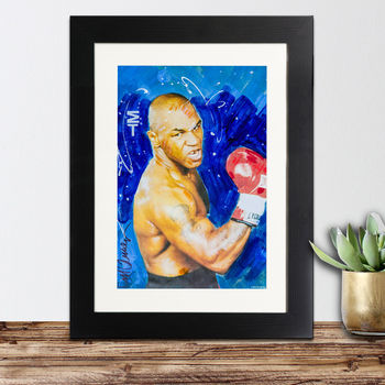 Official Mike Tyson Framed Print By Sidney Maurer