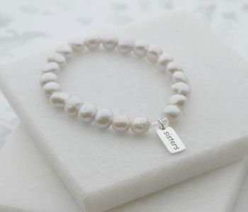 Grey Pearl And Sterling Silver 'Sisters' Bracelet
