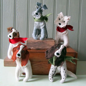 Personalised Felt Dog Sculpture - home accessories