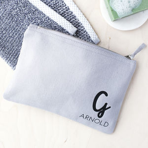 Personalised Mens Initial Wash Bag