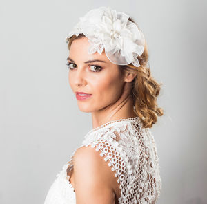 Briana Lace And Lace Headpiece - whats new