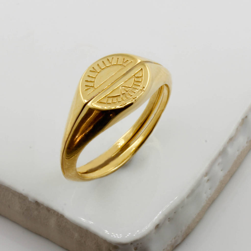rings gold eve vermeil engravable addiction s signet ring oval