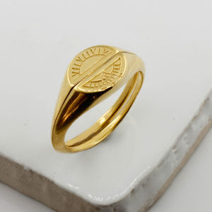 Sun And Moon Signet Rings Silver/Gold