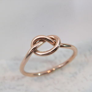 9ct Rose, Yellow Or White Gold Love Knot Ring - 50th anniversary: gold
