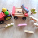 My First Personalised Wooden Tractor