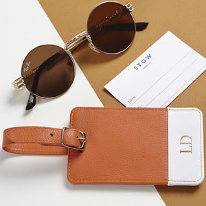 Luxury Personalised Luggage Tag With Monogram
