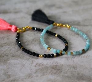 Children's Semi Precious Stone Tassel Bracelet - children's jewellery