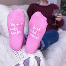 Personalised Women's Sofa Socks