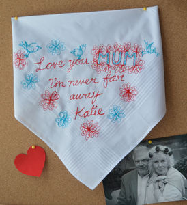Mothers Day Embroidered Art Handkerchief - handkerchiefs