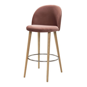 Aubrey Velvet Bar Stool