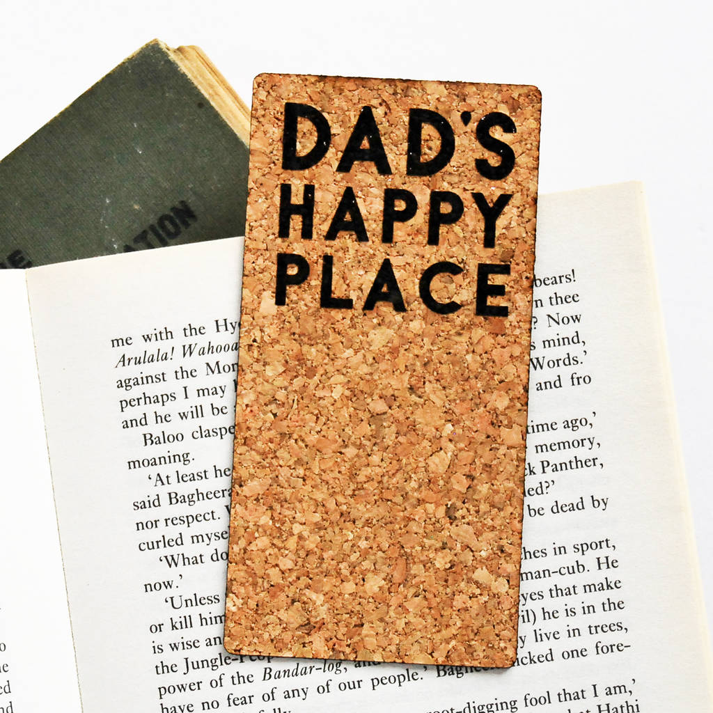 Personalised 'Happy Place' Cork Bookmark