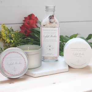 Natural Rose Bath And Body Gift Set For Her