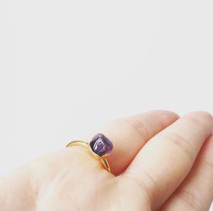 Organic Shaped Tumbled Gemstone Stacking Ring - rings