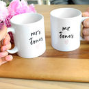 Personalised Wedding Mug Set Names
