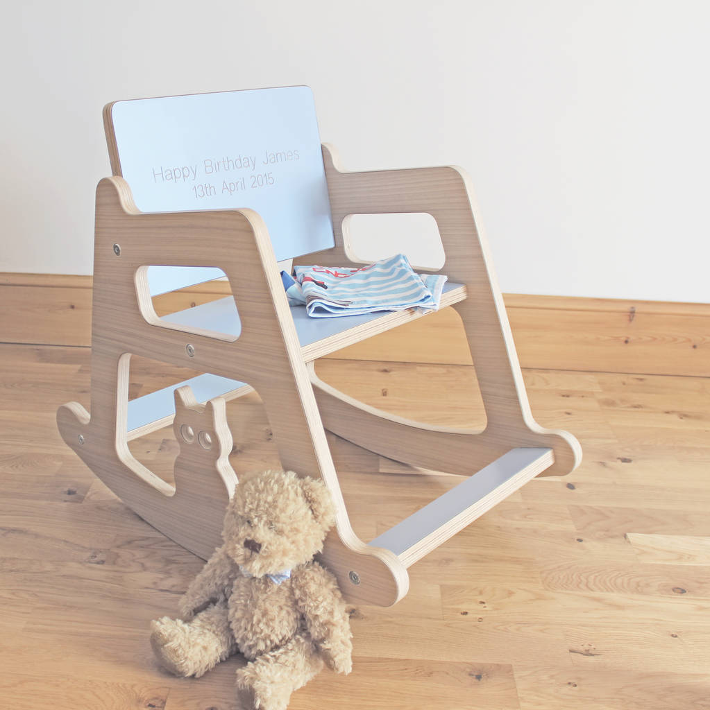 Personalised Wooden Children S Rocking Chair By Kids