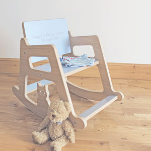Personalised Wooden Children's Rocking Chair - new in baby & child