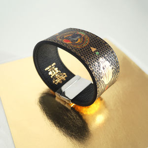 Contactless Payment Bracelet, Gold Leather Scarab - bracelets & bangles