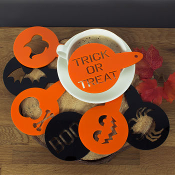 Halloween Spooky Cake And Coffee Stencil Duster Set