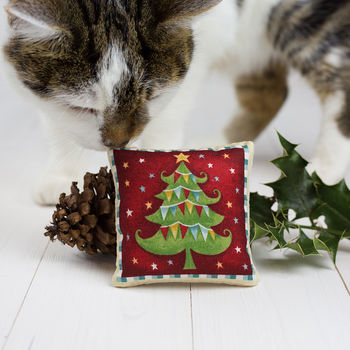 Handcrafted Organic Catnip Christmas Toy