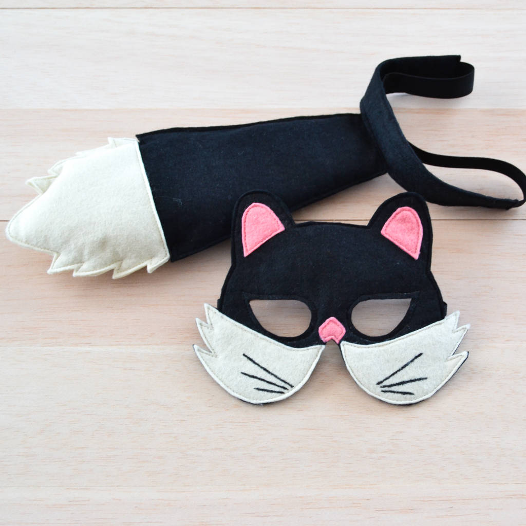 Black Cat Mask And Tail Childrenu0027s Costume & black cat mask and tail childrenu0027s costume by bhb kidstyle ...