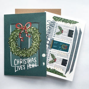 Hand Illustrated Christmas Greeting Card Set