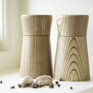 Sycamore Birch Salt And Pepper Mill Set - tableware